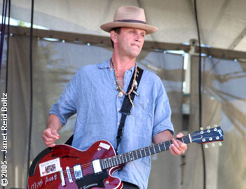 photo of Cowboy Mouth's Paul Sanchez copyright Janet Reid Boltz