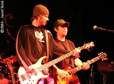 photo of Dexter Freebish bandmates Chris Lowe and Greg Combs. Copyright Janet Reid.